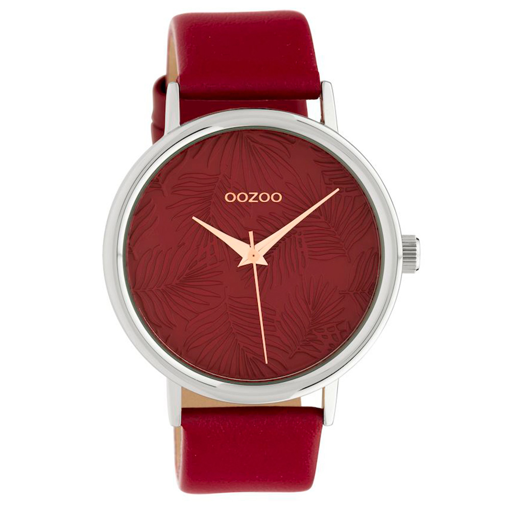 OOZOO C10164 Horloge Timepieces Collection donkerrood 42 mm