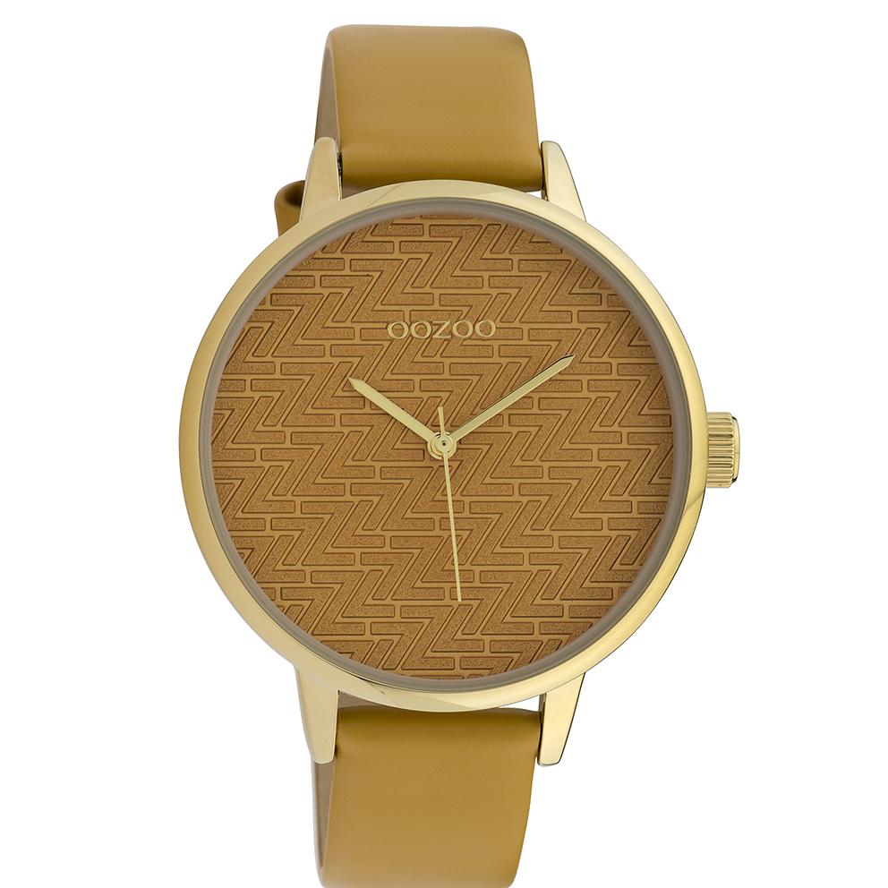 OOZOO C10245 Horloge Timepieces mosterdgeel 42 mm