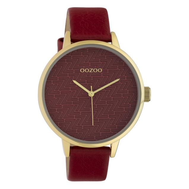 OOZOO C10247 Horloge Timepieces chili-rood 42 mm