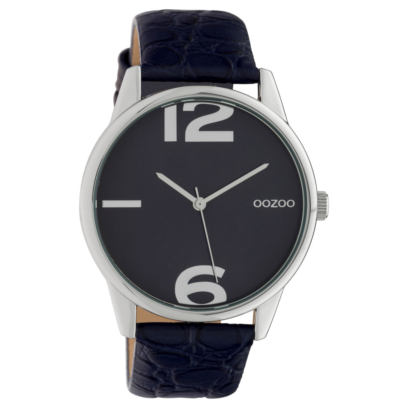 OOZOO C10377 Horloge Timepiece Collection Evening Blue Croco 45 mm