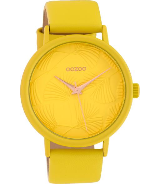 OOZOO C10395 Horloge Timepieces geel 42 mm