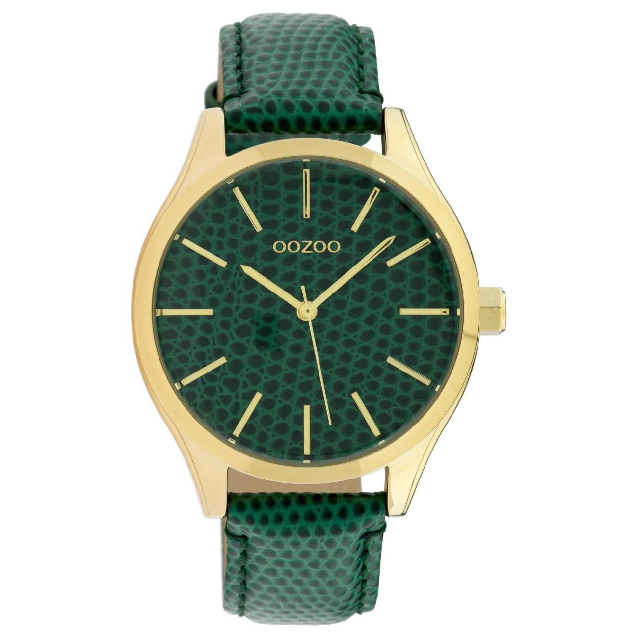 OOZOO C10432 Horloge Timepiece Collection Dark Green Snake 42 mm