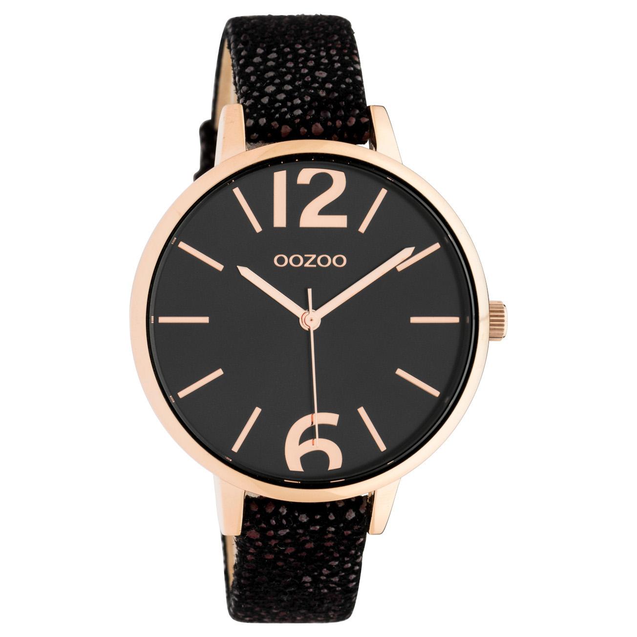 OOZOO C10438 Horloge Timepiece Collection Black-Bronze 42 mm
