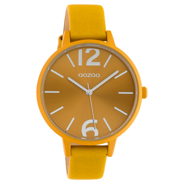 OOZOO C10440 Horloge Timepieces Collection mosterdgeel 42 mm