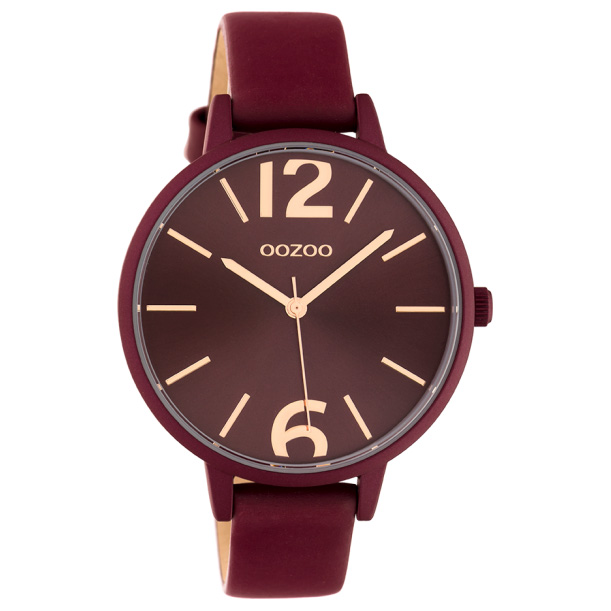 OOZOO C10444 Horloge Timepieces Collection burgundy 42 mm