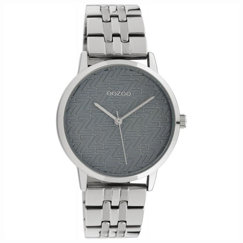 OOZOO C10555 Horloge Timepieces staal silver grey 36 mm