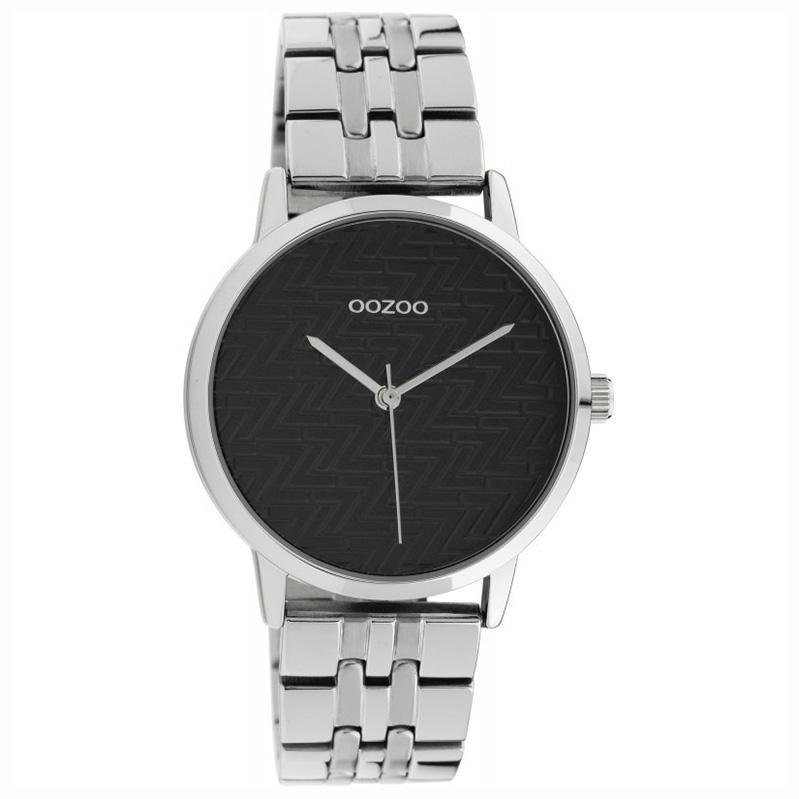 OOZOO C10556 Horloge Timepieces staal silver-black 36 mm