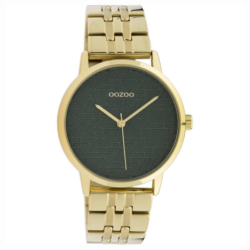 OOZOO C10558 Horloge Timepieces staal green 36 mm