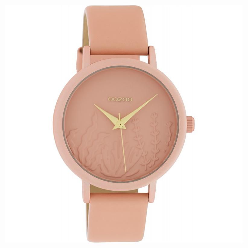 OOZOO C10604 Horloge Timepieces aluminium/leder softpink 36 mm