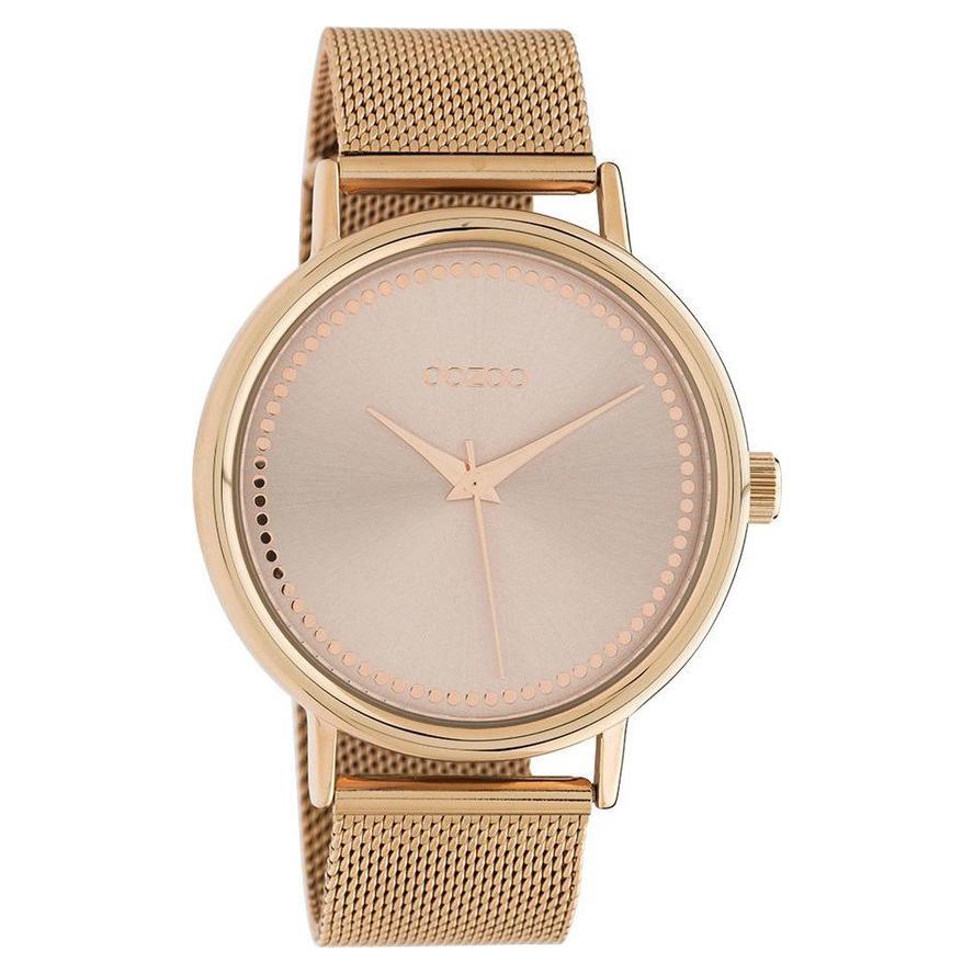 OOZOO C10645 Horloge Timepieces Mesh staal rosekleurig 42 mm