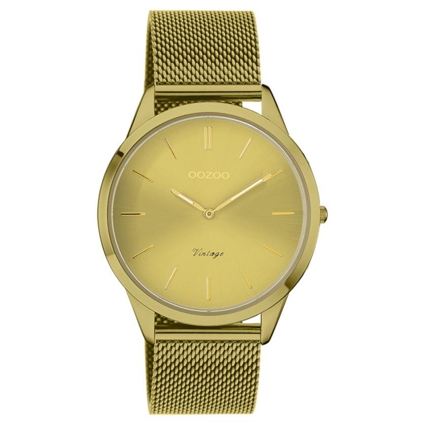 OOZOO C20005 Horloge Vintage mosterdgeel 38 mm
