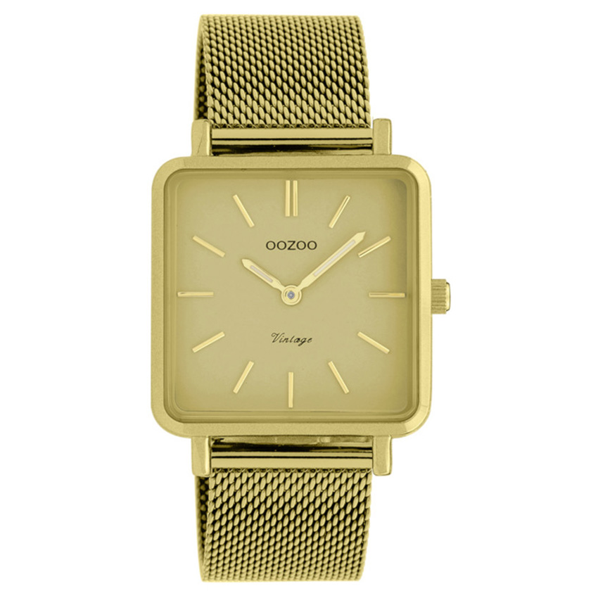 OOZOO C20010 Horloge Vintage mosterdgeel 29 x 29 mm