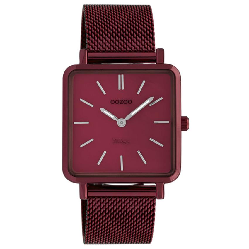 OOZOO C20011 Horloge Vintage burgundy-rood 29 mm