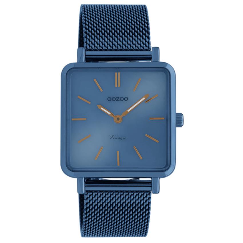OOZOO C20012 Horloge Vintage blauw 29 x 29 mm