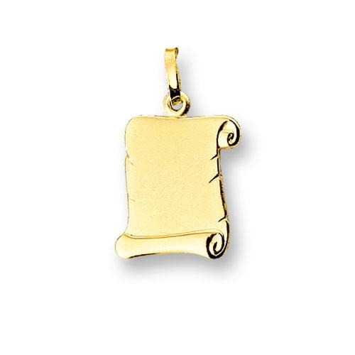 Huiscollectie 4006600 Gouden graveerplaat perkament rol