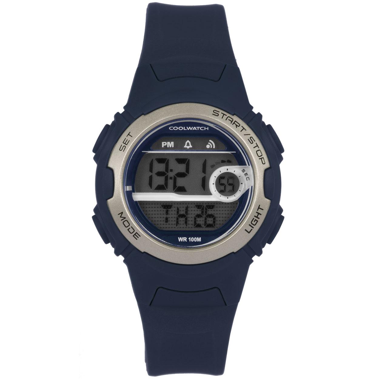 Coolwatch CW.342 Kinderhorloge Analoog/digitaal siliconen/blauw 32 mm