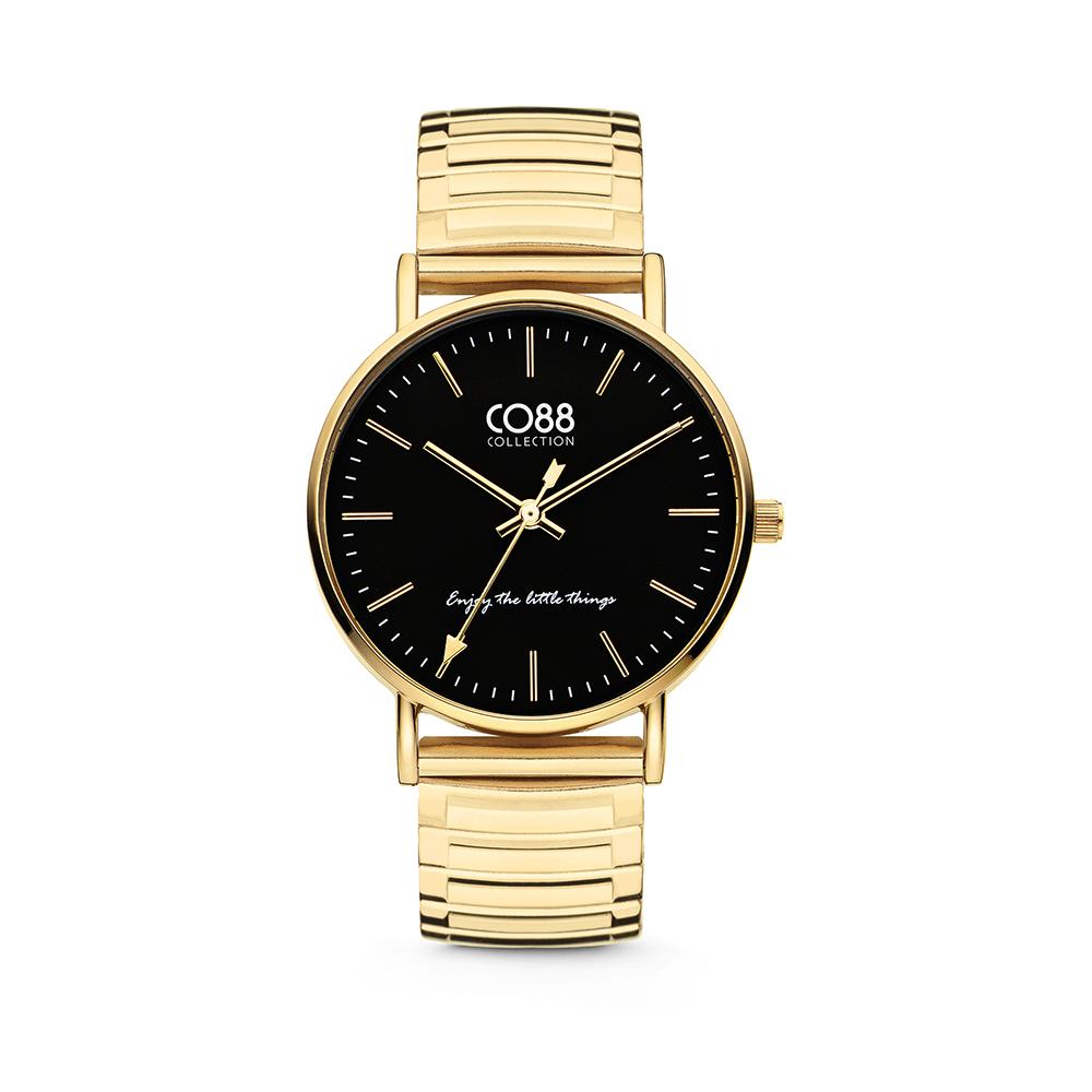 CO88 Collection Horloges 8CW 10088 Horloge met Stalen Elastische Band - Ø36 mm - Goudkleurig