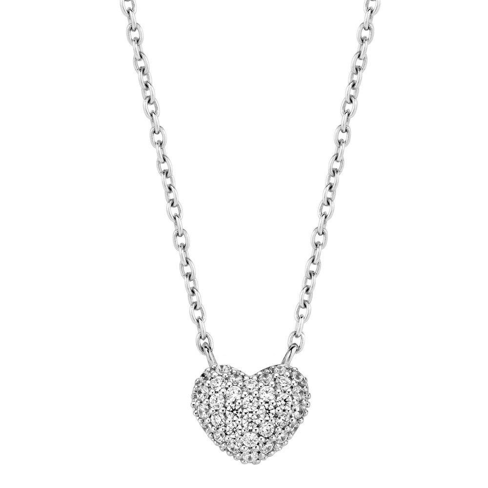 Ti Sento 3899ZI zilveren collier met hartje