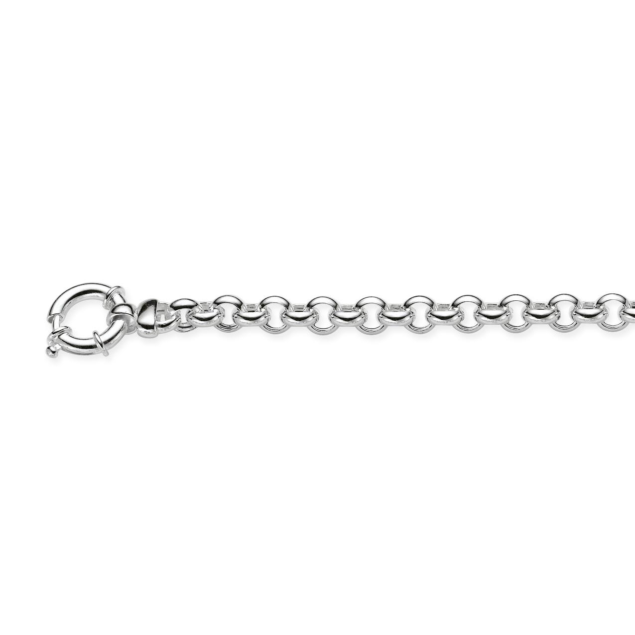 Afbeelding van Best Basics Ketting zilver Jasseronschakel 45 cm x 7 mm 102.0885.45