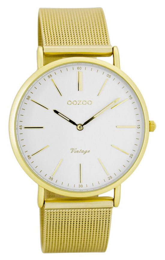 OOZOO Horloge Vintage 36 mm goudkleurig C7397