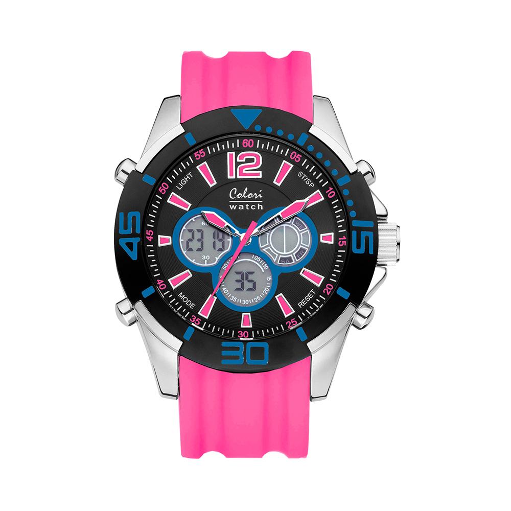 Colori Urban 5 CLD066 Digitaal Horloge - Siliconen Band - Ø 47 mm - Roze