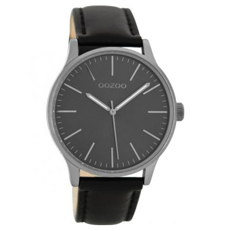 OOZOO C8544 Horloge Timepieces Collection staal/leder Black 40 mm