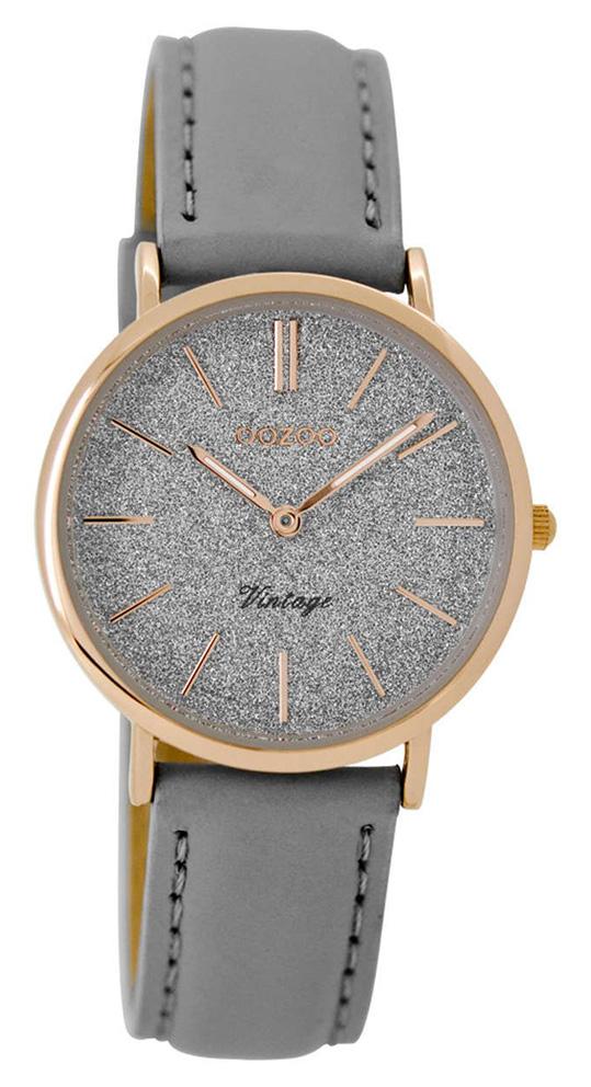 OOZOO Horloge Vintage rosé-grijs 32 mm C8831