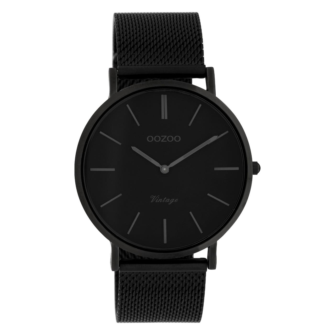 OOZOO C9933 Horloge staal/mesh Black 40 mm