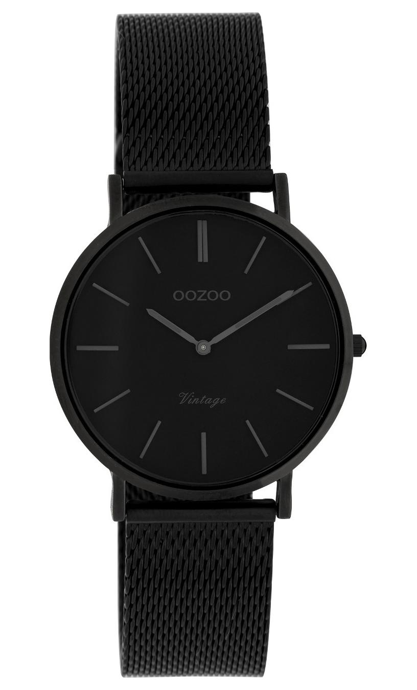 OOZOO C9935 Horloge staal Mesh Black 32 mm