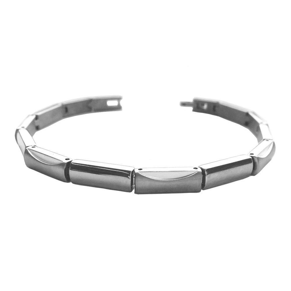 Boccia 03015-01 zilverkleurige titanium armband