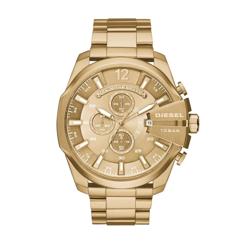 Diesel DZ4360 Horloge Chronograaf Mega Chief staal goudkleurig 59 mm