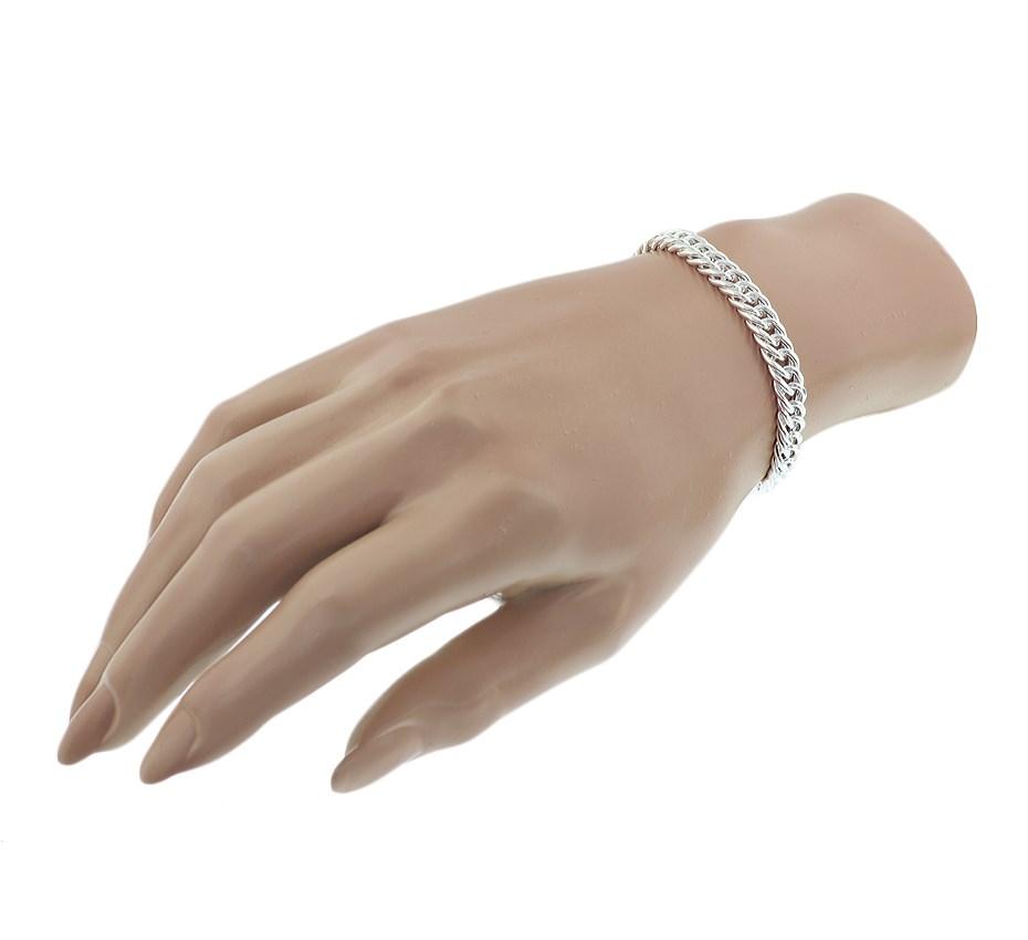 TFT Armband Zilver Gourmet 7,4 mm 19 cm