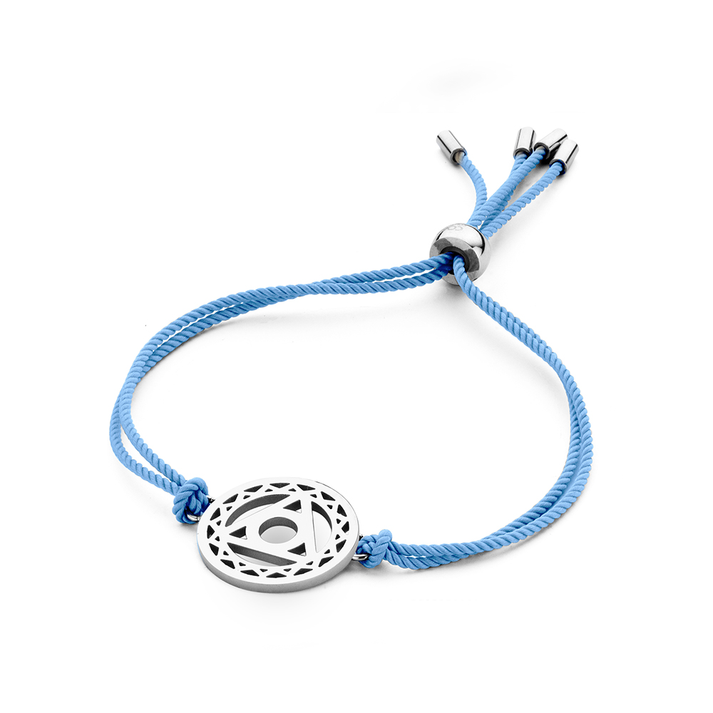 CO88 Collection Chakra 8CB 90210 Armband met Stalen Element - Throath Chakra Ø 20 mm - One-size - B