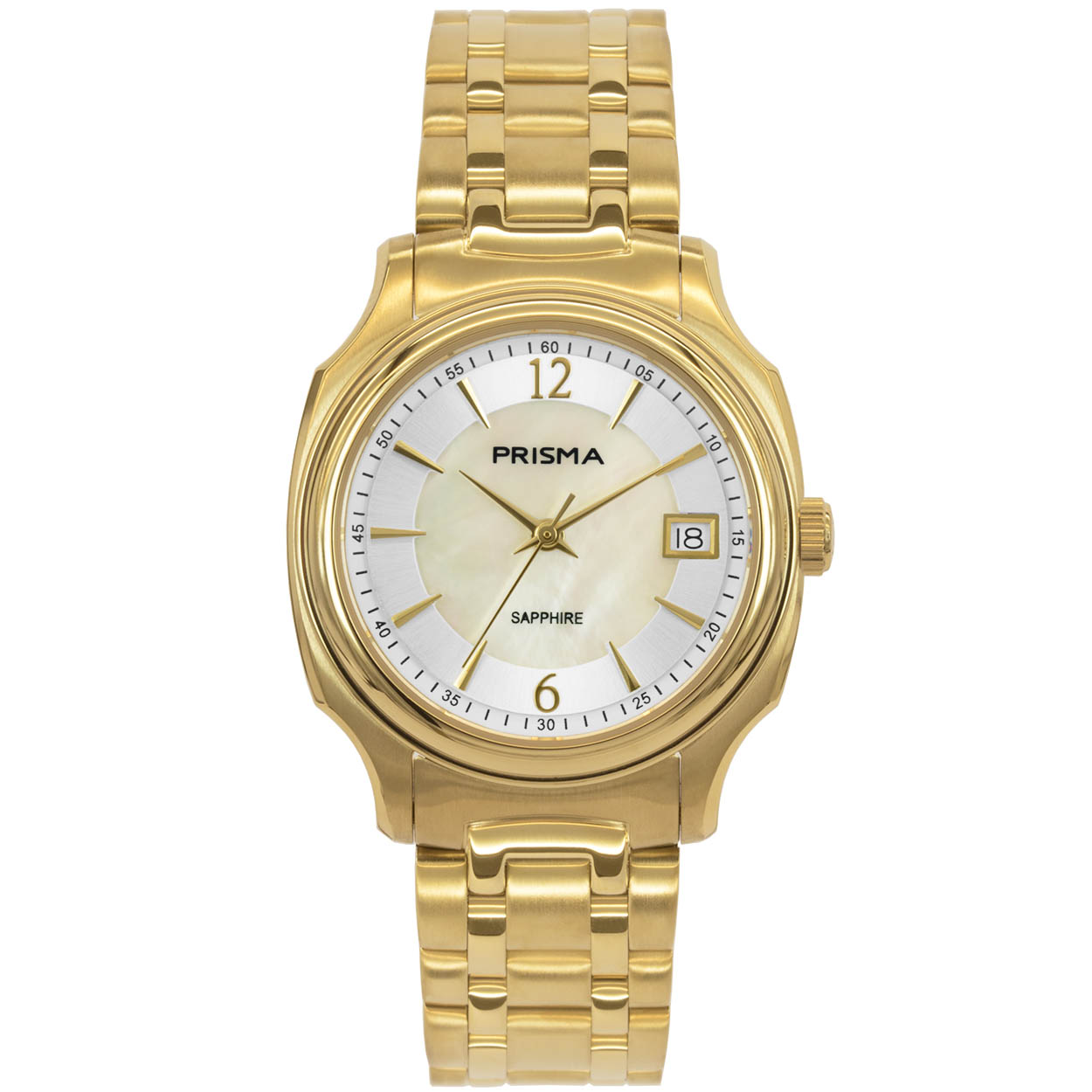 Prisma P.1137 Horloge staal goudkleurig/parelmoer 33 mm