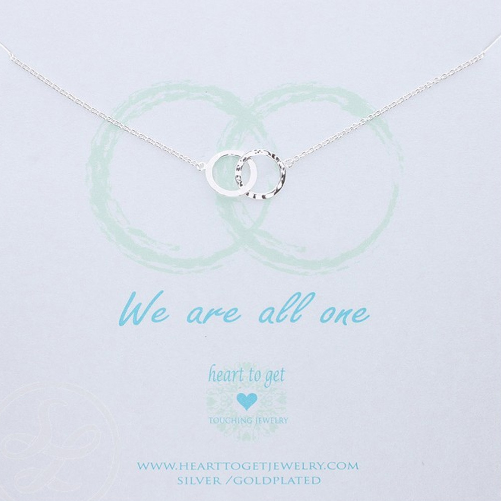 Heart to Get N89DOK13S Ketting zilver We are all one