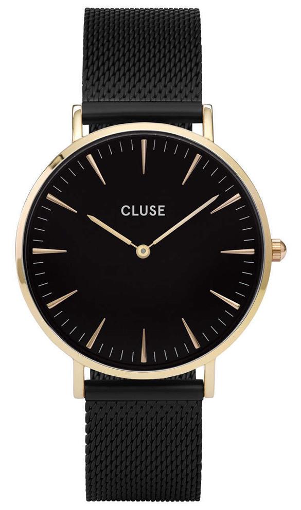 CLUSE CW0101201008 Horloge La Boheme Mesh goudkleurig-zwart 38 mm