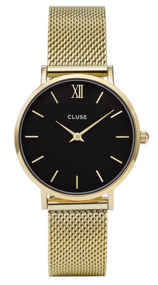 Cluse CW0101203017 Horloge Minuit Mesh goudkleurig 33 mm