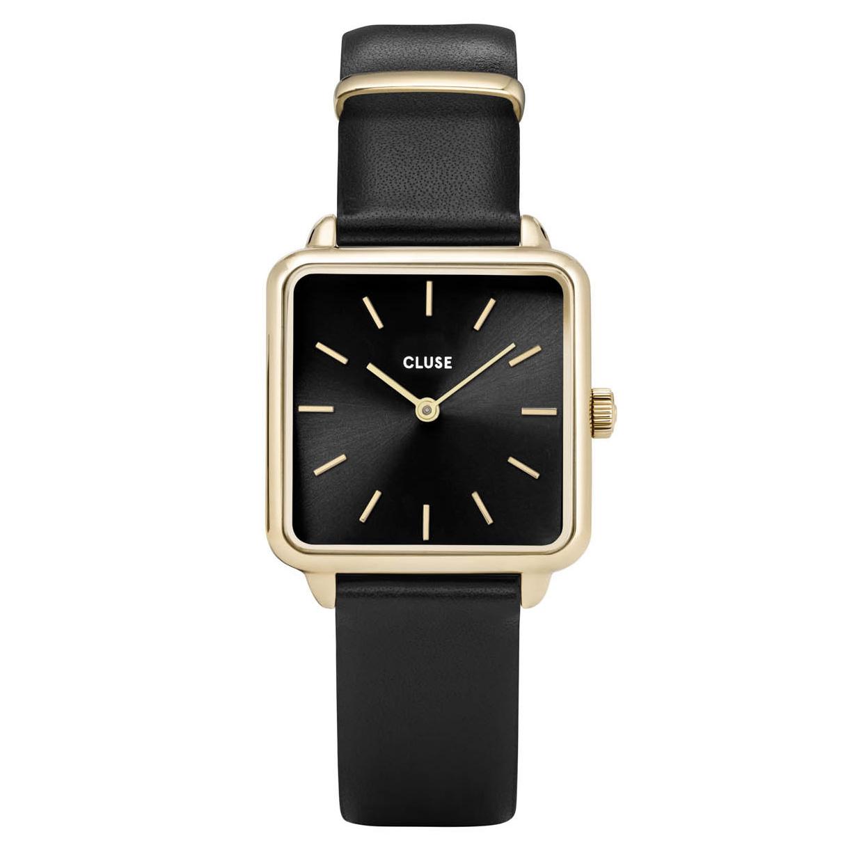 CLUSE CL60008 Horloge La Tetragone goudkleurig-zwart 29 mm