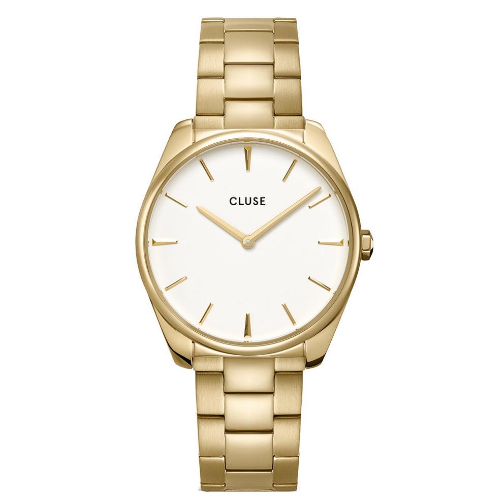 CLUSE CW0101212005 Horloge Feroce goudkleurig-wit 36 mm