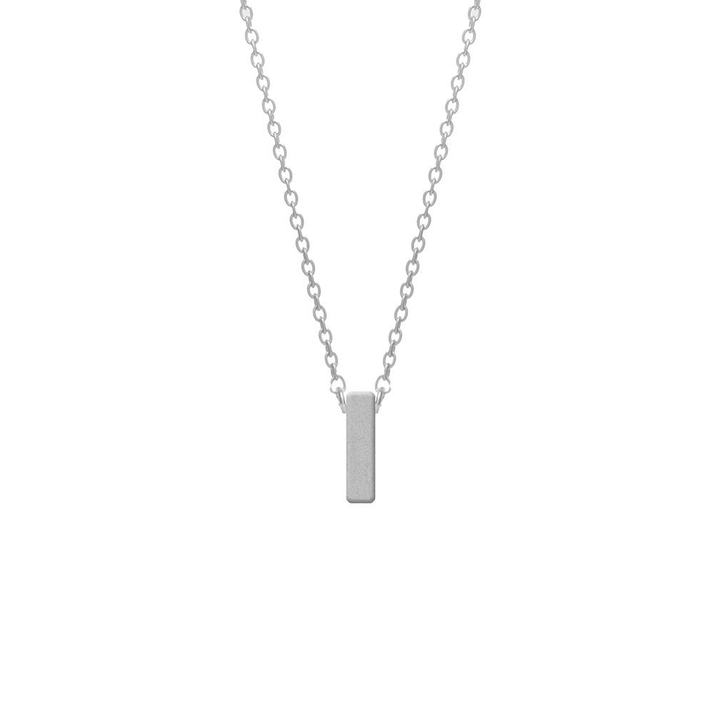 CO88 Collection 8CN-11008 - Stalen collier - letterhanger I 9 mm - lengte 42+5 cm - zilverkleurig