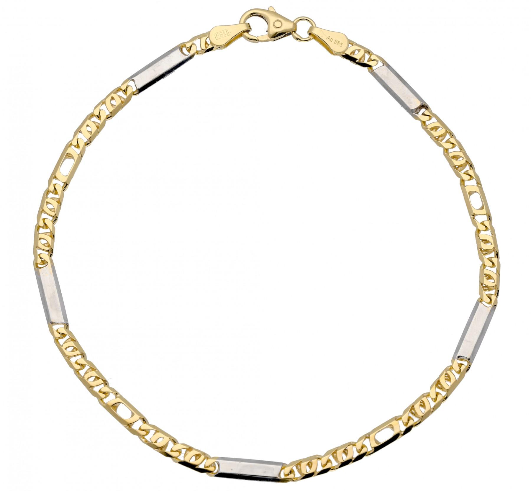 Gouden schakelarmband gold collection 19 cm - valkenoog schakel - 3 mm breed 204.5038.19