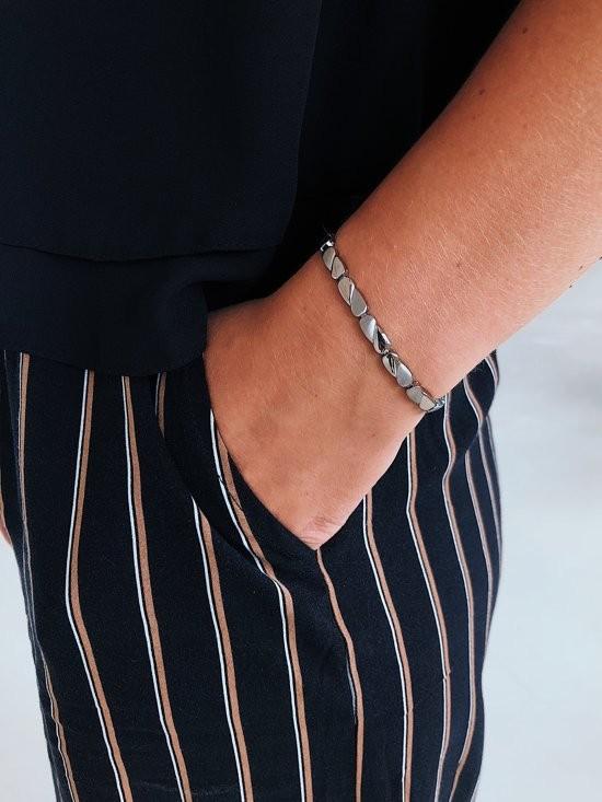 Boccia 03016-02 Armband Titanium goud- en zilverkleurig 20 cm