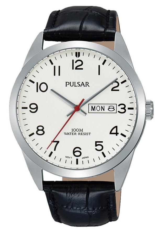 Pulsar Herenhorloge Witte wijzerplaat PJ6065X1 35 mm