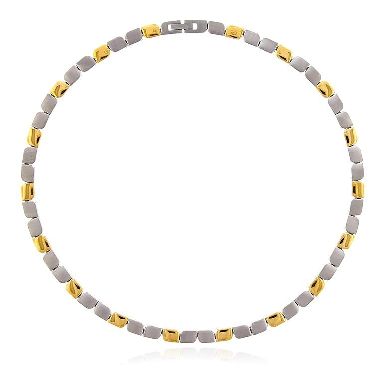 Boccia 08003-02 Ketting titanium zilver-en goudkleurig 47 cm