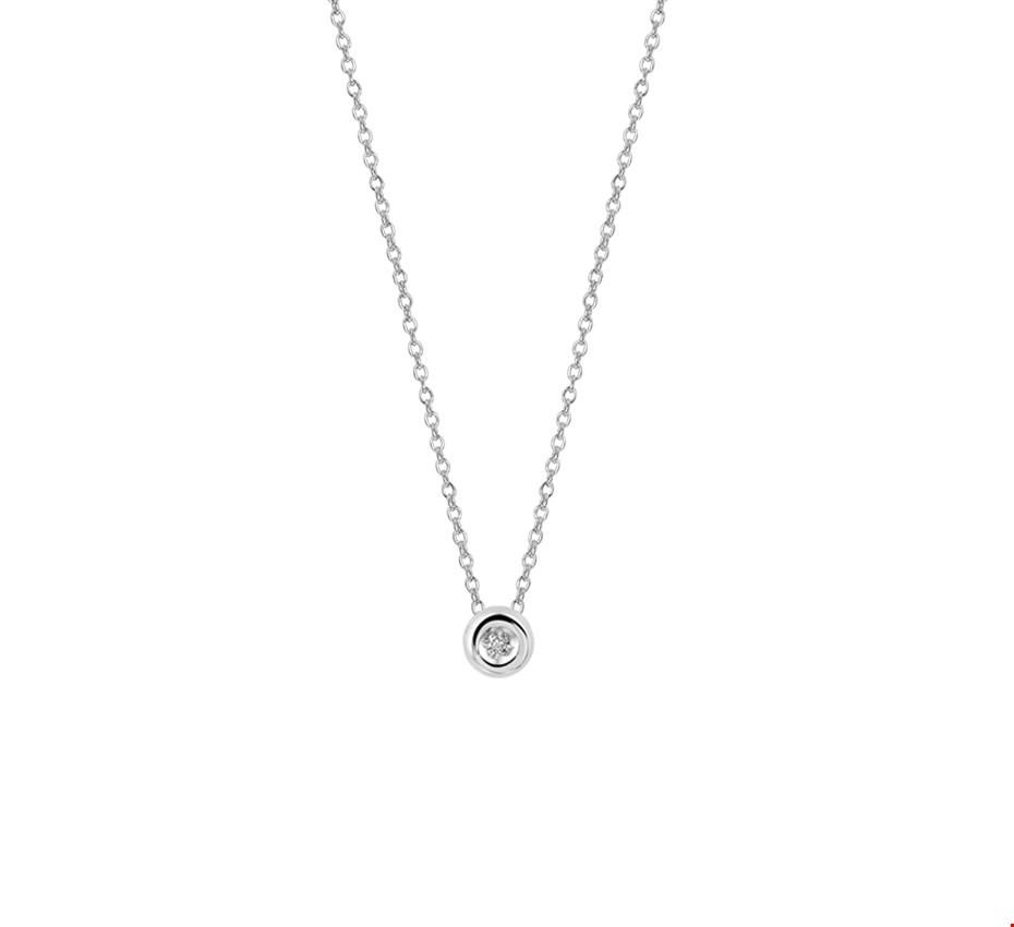TFT Collier Witgoud Diamant 0.01ct H SI