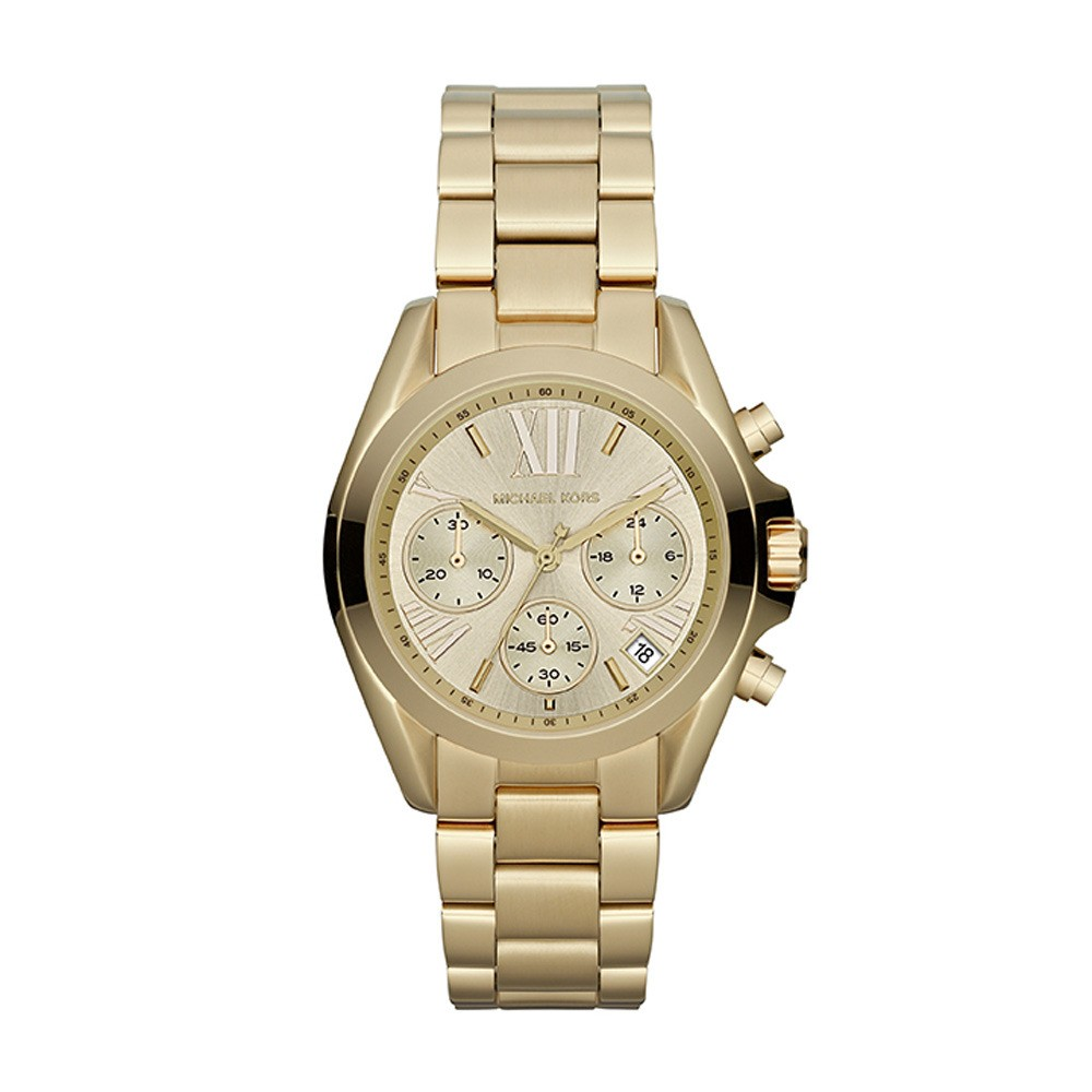 Michael Kors Horloge Bradshaw staal goudkleurig MK5798