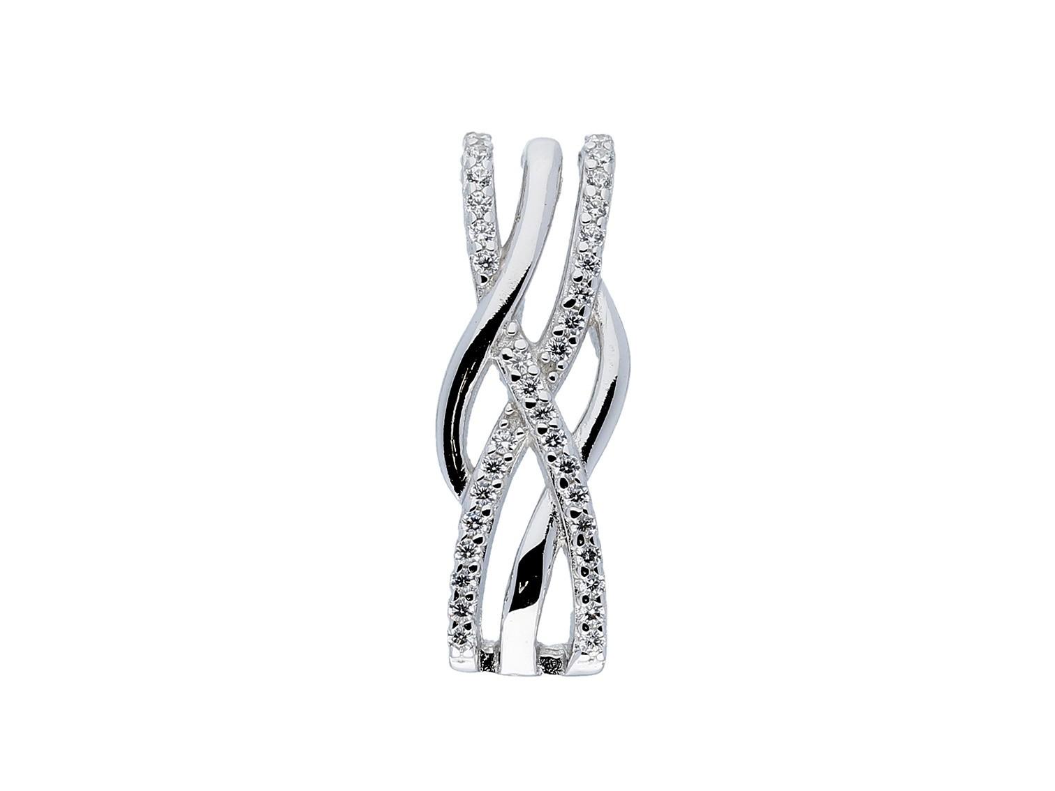 Elegance zilveren hanger zirkonia glanzend gerodineerd 120.5627.00