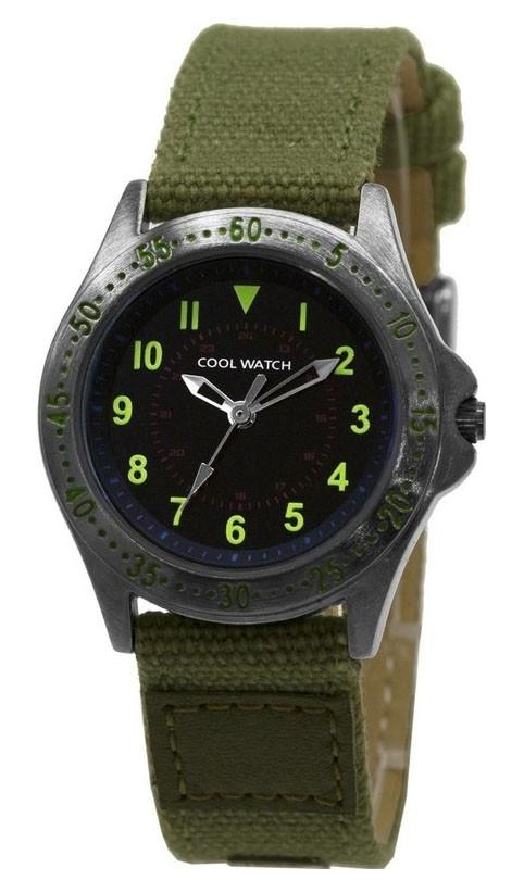 Coolwatch kinderhorloge 'Bolk' staal-canvas groen CW.255