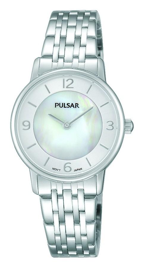Pulsar Dameshorloge Zilverkleurig Parelmoer wijzerplaat PRW025X1