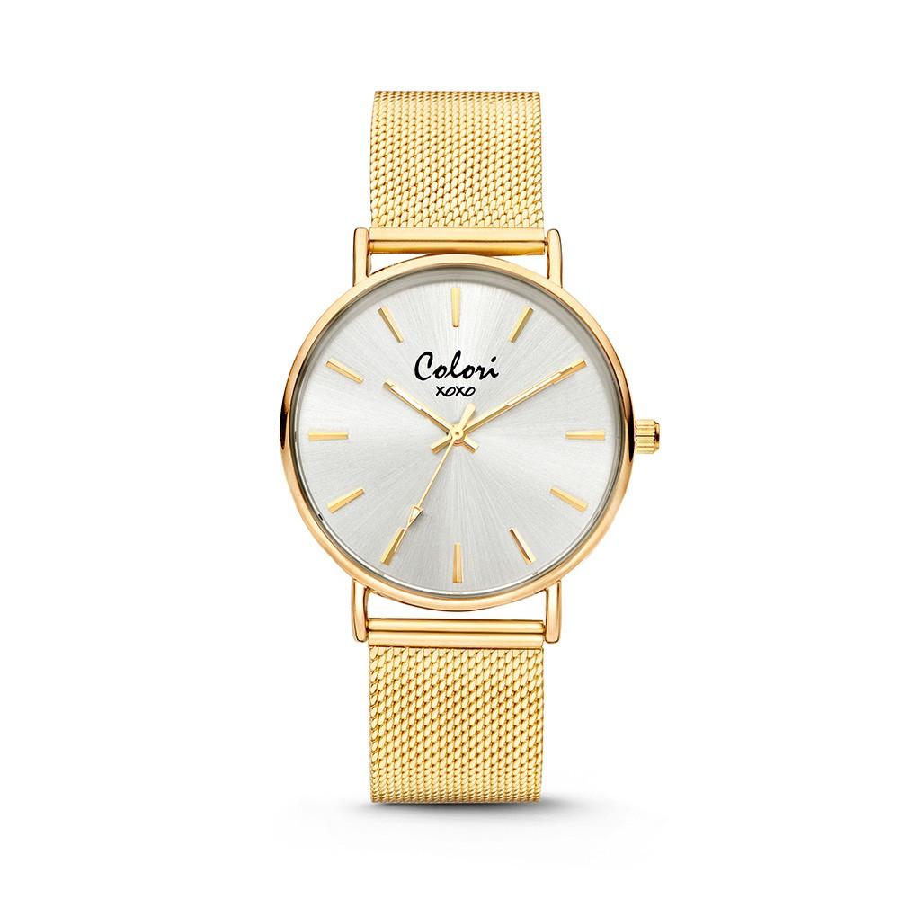 Colori - XOXO - 5-COL445 - Horloge - Mesh band - goudkleurig - 36 mm